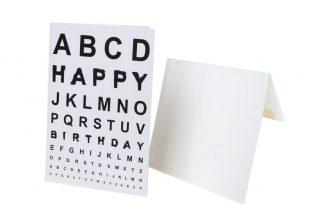 כרטיס ברכה בדיקת ראייה Happy birthday