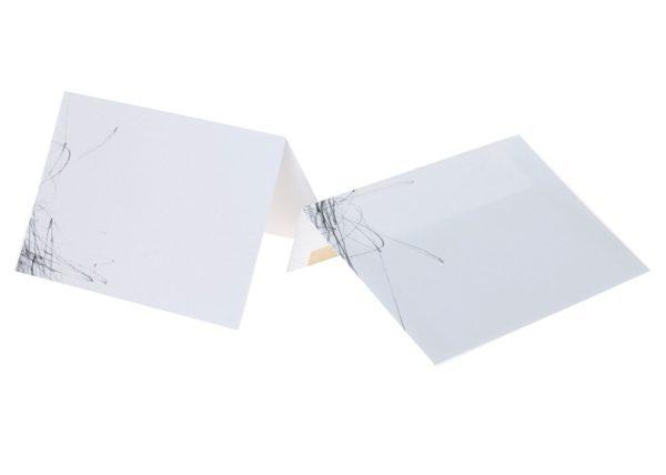 כרטיס ברכה Freehand קשקוש עפרון – מבט צידי