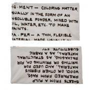 קלמר קנבס Handwriting | פיגמנט | אותיות קטנות | בצבע לבן