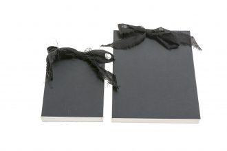אלבום/ספר אורחים שחור עם שרוך